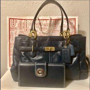 ❤️BUNDLE!!! Authentic Leather Coach Purse & wallet